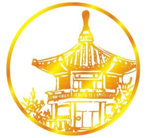 White Logo golden house