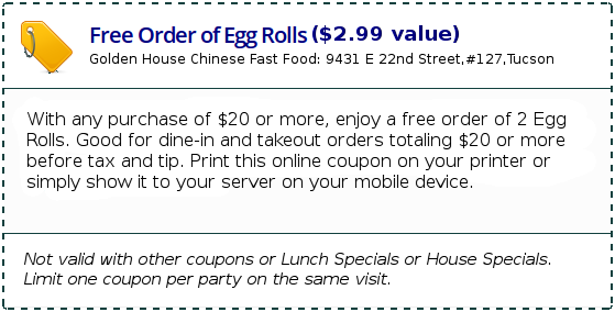 Free Egg Rolls Coupon